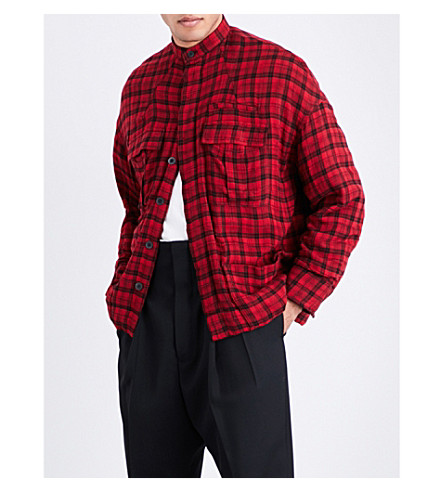HAIDER ACKERMANN Checked flannel jacket (Red
