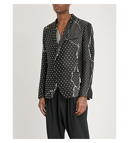 HAIDER ACKERMANN Regular-fit jacquard jacket (Black