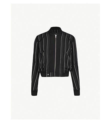 HAIDER ACKERMANN Striped woven bomber jacket (Black