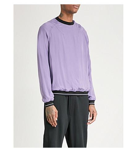 HAIDER ACKERMANN Two-tone silk sweatshirt (Blue