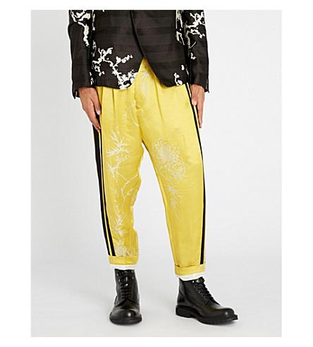 HAIDER ACKERMANN Dianthus regular-fit linen and silk-blend pants