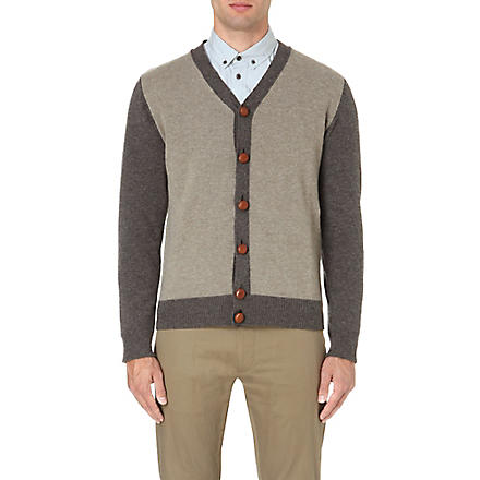 GOLDEN GOOSE DELUXE BRAND Colourblock wool cardigan (Taupe