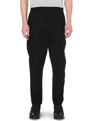 ALEXANDRE PLOKHOV Cross-over cotton-blend trousers