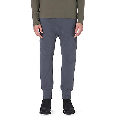 ALEXANDRE PLOKHOV Dropped-crotch jogging bottoms (Grey