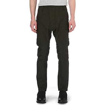 ALEXANDRE PLOKHOV Flight cotton-blend trousers (Emerald