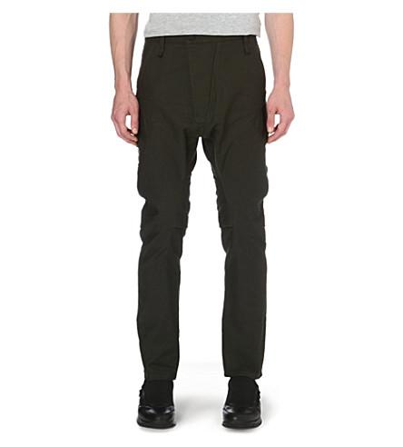 ALEXANDRE PLOKHOV Flight cotton-blend trousers (Emerald
