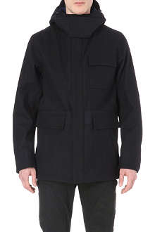 OAMC Hooded panelled coat