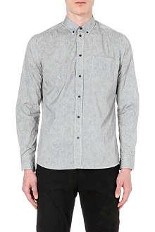 OAMC Contrast-panel striped shirt