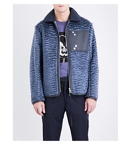 OAMC Reversible wool-blend bomber jacket (Night+blue