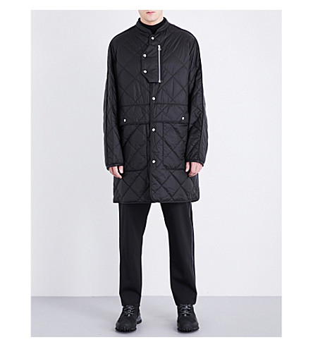 OAMC Oversized quilted coat (Black
