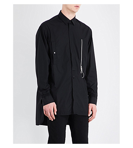 OAMC Oversized cotton shirt (Black