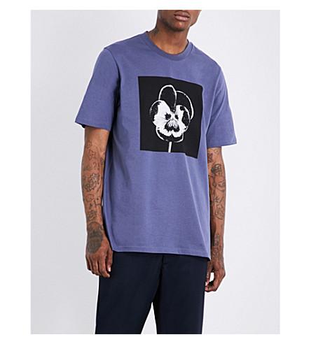 OAMC Night Flower cotton-jersey T-shirt (Slate