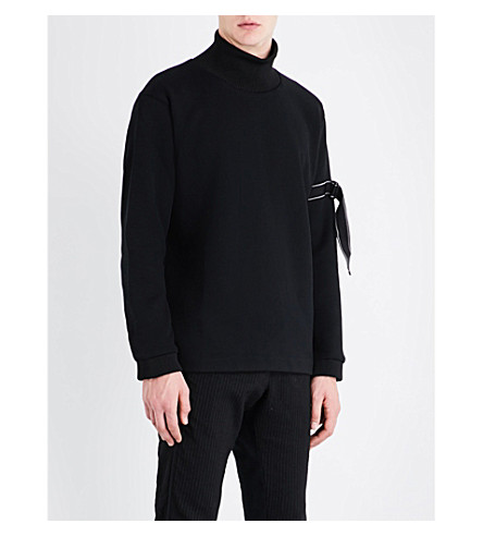 OAMC Turtleneck wool-blend jumper (Black