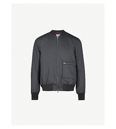 OAMC Pocket-detail shell bomber jacket (Black