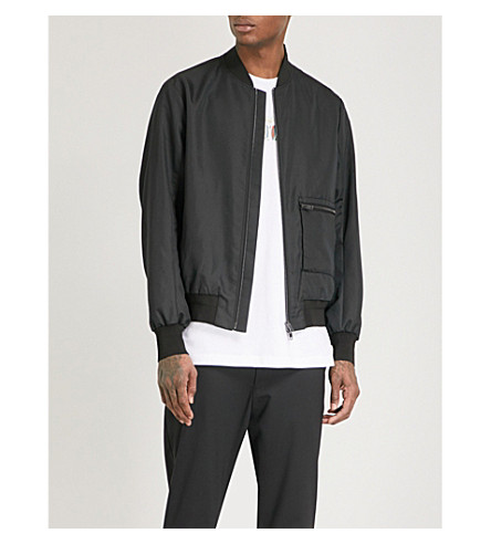 OAMC Pocket-detail shell bomber jacket (Black