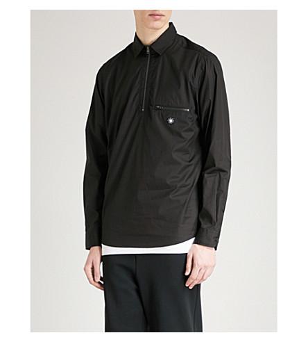 OAMC Zip-up regular-fit cotton shirt (Black
