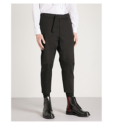 OAMC Cropped cotton cargo trousers (Black