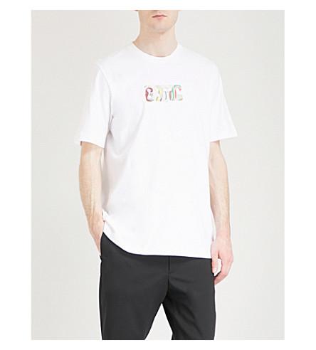 OAMC Logo-print cotton-jersey T-shirt (White