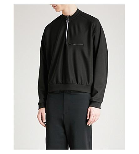 OAMC Zip-up jersey sweatshirt (Black