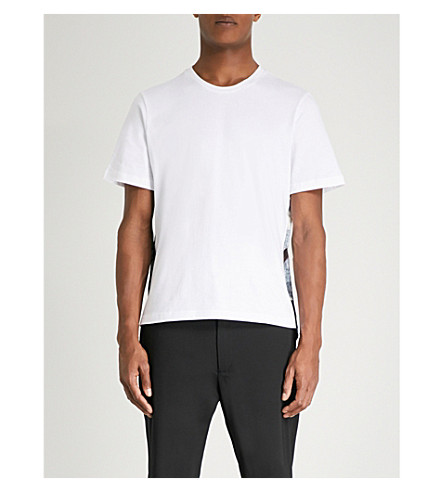 OAMC Salgon side-print cotton-jersey T-shirt (White+flower