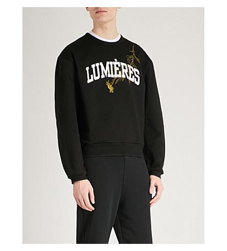 OAMC Lumières cotton-jersey sweatshirt (Black