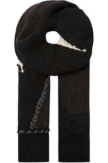 ISABEL BENENATO Chunky patch scarf
