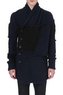 ISABEL BENENATO Patchwork wool-blend cardigan