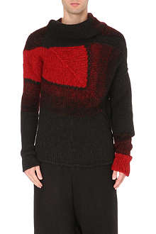 ISABEL BENENATO Patch knitted jumper