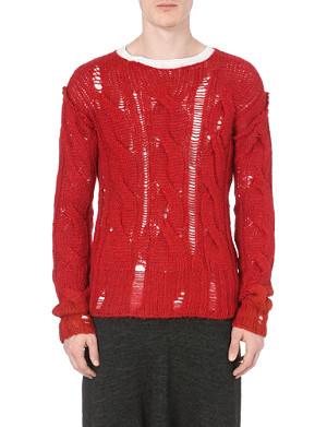 ISABEL BENENATO Destroy cable-knit jumper