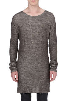 ISABEL BENENATO Cotton and wool-blend knitted jumper
