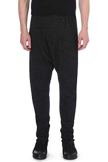 ISABEL BENENATO Drop-crotch knitted jogging bottoms