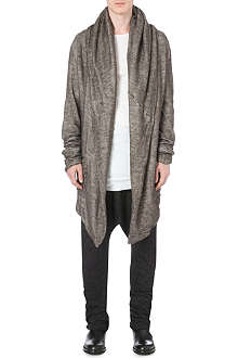 ISABEL BENENATO Japanese knitted hooded cardigan