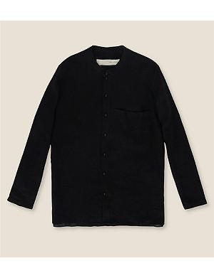 ISABEL BENENATO Grandad linen shirt