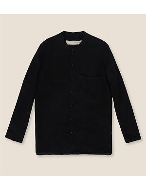 ISABEL BENENATO Linen grandad shirt