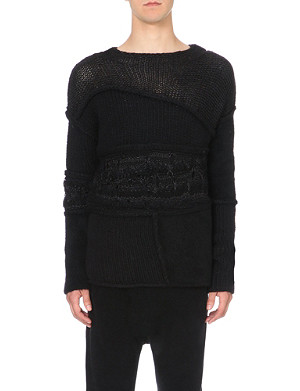ISABEL BENENATO Patchwork chunky-knit jumper
