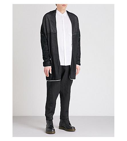 ISABEL BENENATO Layered-pocket cotton cardigan (Black+milk