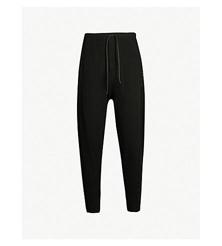 ISABEL BENENATO Signature jersey track pants (Black