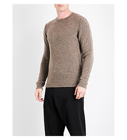 ISABEL BENENATO Textured wool-blend jumper (Soil