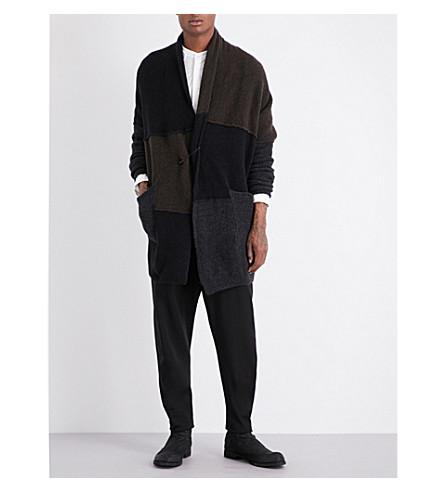 ISABEL BENENATO Panelled wool-blend cardigan (Multicolor