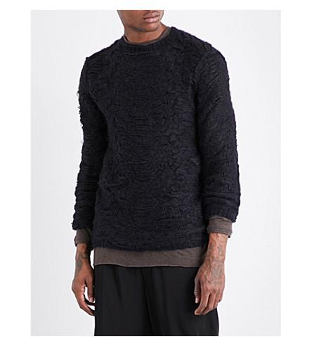 ISABEL BENENATO Textured knitted jumper (Black