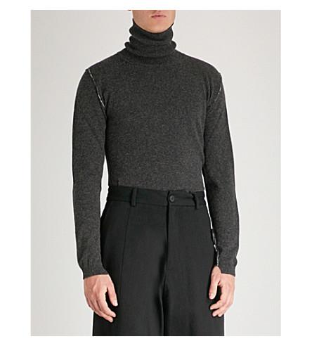 lana de cuello alto ISABEL de grafito BENENATO con Jersey fwqnxg61O