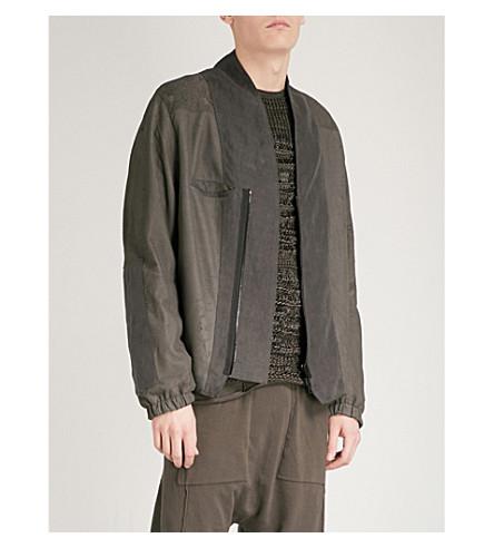 ISABEL BENENATO Distressed leather bomber jacket (Elephant