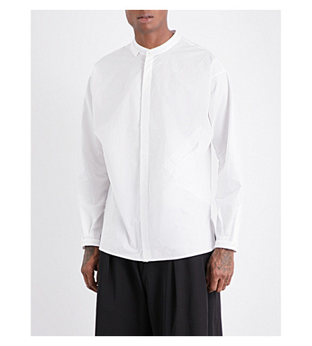 ISABEL BENENATO Oversized cotton shirt (Milk