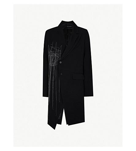 ISABEL BENENATO Topstitched wool coat (Black