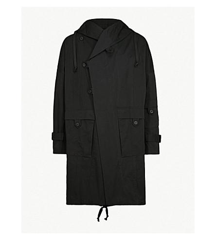 ISABEL BENENATO Hooded cotton parka (Black