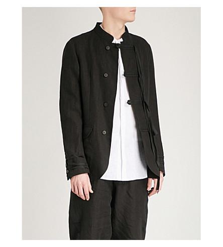 ISABEL BENENATO Military linen jacket (Black