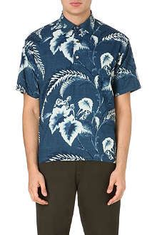 45 RPM Hawaiian print regular-fit shirt
