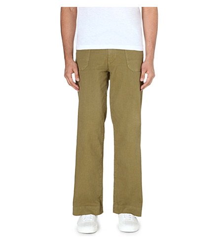 45 RPM Cotton cargo trousers (Khaki
