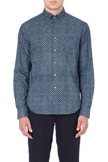 45 RPM Geometric-print cotton shirt