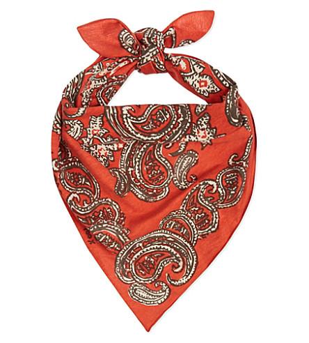45 RPM Printed cotton bandana (Red
